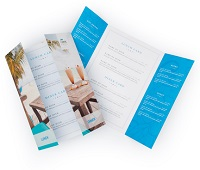 A4 formaat menukaarten