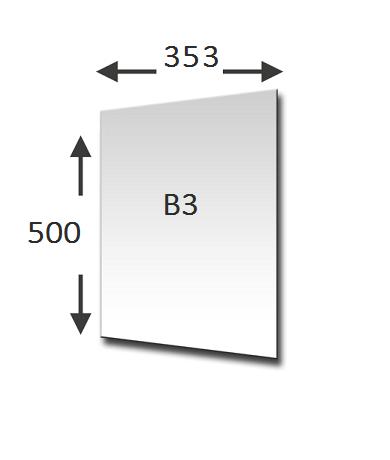 B3 formaat lengte en breedte in mm
