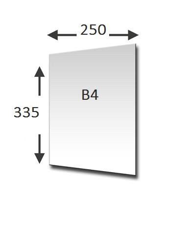 Lengte en breedte B4 formaat
