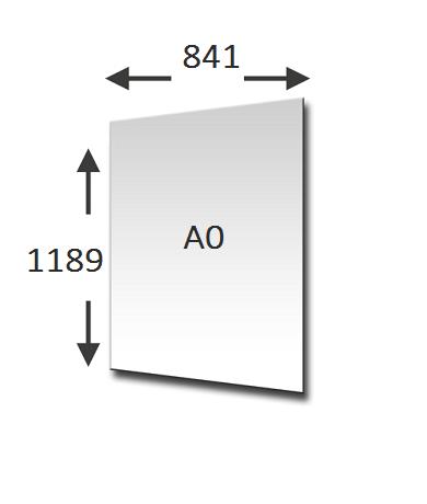 A0 formaat in cm en mm bekijk de afmetingen - Cm breedte van de basis tabel ...