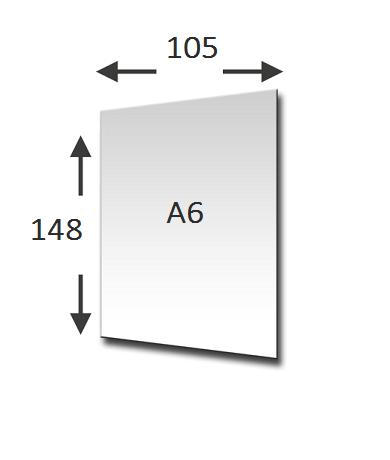 Verhoudingen van het A6 formaat