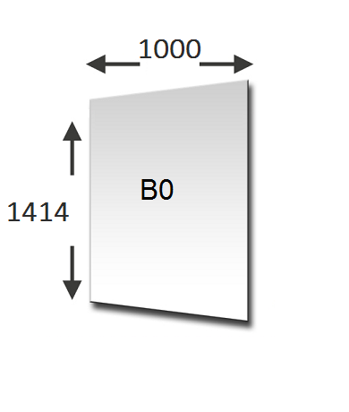 B0 formaat in lengte en breedte