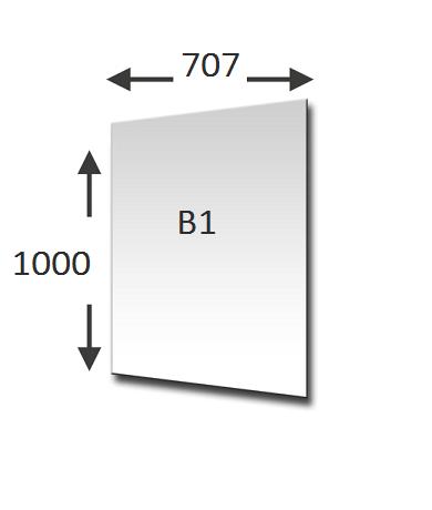 Lengte en Breedte B1 formaat