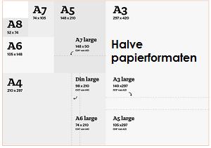Halve papierformaten